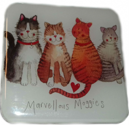 Marvellous Moggies Fridge Magnet